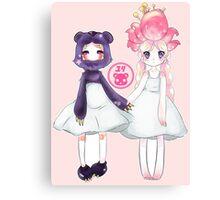 Yuri Kuma- Moon Girl Forest Girl Canvas Print