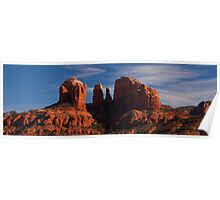 Cathedral Rock - Sedona (panoramic)  Poster