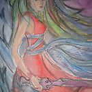 Angel of Tenacity Detail  by Anthea  Slade