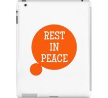 3W: Rest in Peace iPad Case/Skin