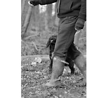 Beater's dog and his Master Photographic Print