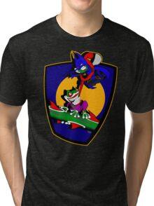 Gnatman vs The Croaker Tri-blend T-Shirt