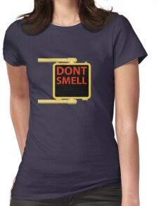 New York Crosswalk Sign Don't Smell Womens Fitted T-Shirt