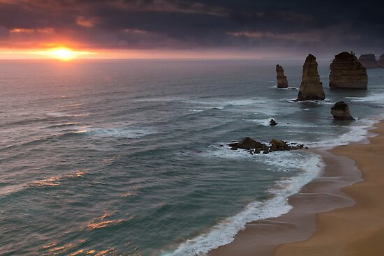 Twelve Apostles, Port Campbell National Park, Victoria, Australia by Shelley Warbrooke