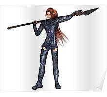 Female Elf Dragon Warrior - 1 Poster