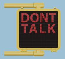 "New York Crosswalk Sign Don""t Talk Kids Tee"