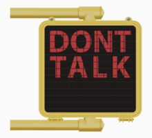 "New York Crosswalk Sign Don""t Talk One Piece - Short Sleeve"