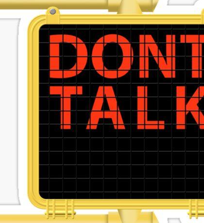"New York Crosswalk Sign Don""t Talk Sticker"