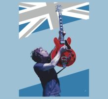 Noel Gallagher on Union Jack background by projectbebop