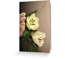 Spring Time Lily Bouquet Greeting Card