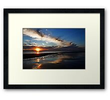 Awash in a Swirl of Color and Water Framed Print
