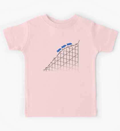 I'm On a Roller Coaster That Only Goes Up (Blue Cars) Kids Tee