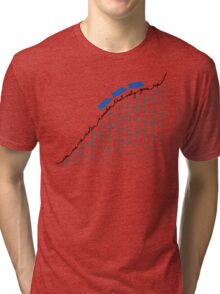 I'm On a Roller Coaster That Only Goes Up (Blue Cars) Tri-blend T-Shirt