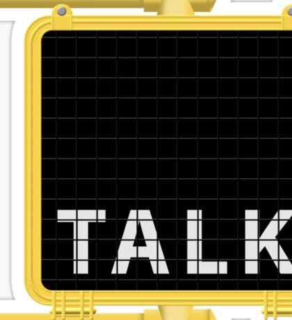 New York Crosswalk Sign Talk Sticker