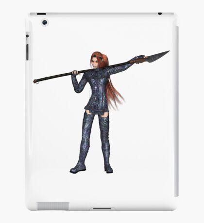 Female Elf Dragon Warrior - 1 iPad Case/Skin
