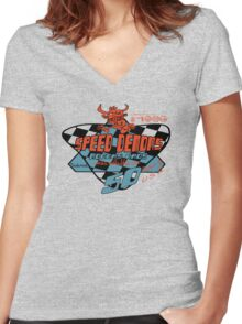 usa Rhode Island tshirt by rogers bros co Women's Fitted V-Neck T-Shirt