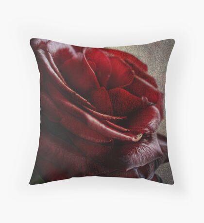 Blood Red Rose Throw Pillow