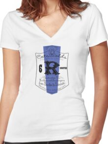uk cotswolds by rogers bros Women's Fitted V-Neck T-Shirt
