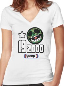 19-2000 Women's Fitted V-Neck T-Shirt
