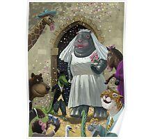 Animal Wedding Poster