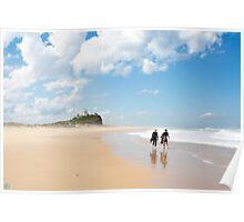 Nobbys Beach Poster