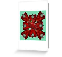 Capsicum Pattern Greeting Card