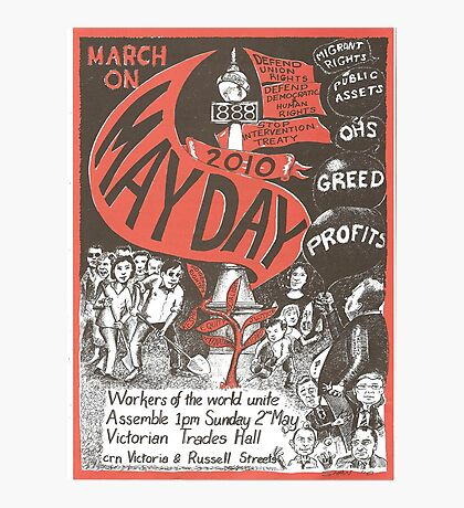 Victorian May Day Poster 2010 Photographic Print