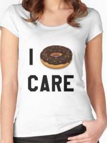 I Donut Care Funny/Trendy/Girly/Hipster Emoji Meme  Women's Fitted Scoop T-Shirt