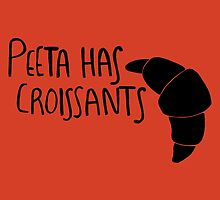 Peeta Has Croissants (Black Design) by 4everYA
