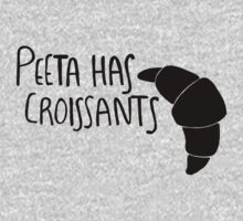 The Baker Has Croissants (Black Design) Kids Tee