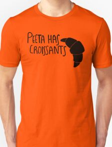 Peeta Has Croissants - Black T-Shirt
