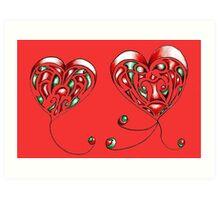 Floaty Hearts Art Print