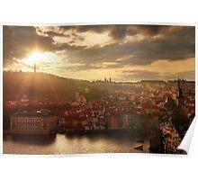 Prague sunset Poster