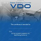 VDO Training Certificate CI Automotive by Joy45