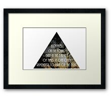 Harry Potter Quote Framed Print