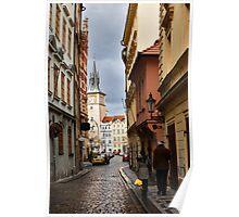 Prague street Poster