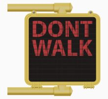 "New York Crosswalk Sign Don""t Walk Kids Tee"
