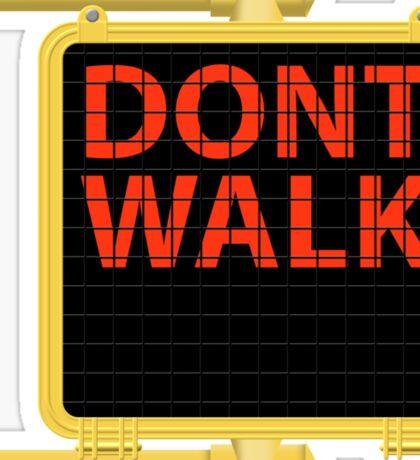 "New York Crosswalk Sign Don""t Walk Sticker"