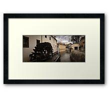Prague water canal Framed Print