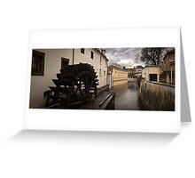 Prague water canal Greeting Card