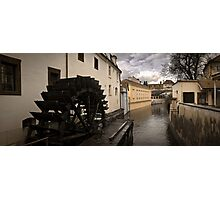 Prague water canal Photographic Print