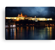 Prague night Canvas Print