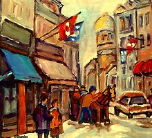 RUE ST. PAUL OLD MONTREAL by Carole  Spandau