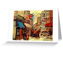 RUE ST. PAUL OLD MONTREAL Greeting Card