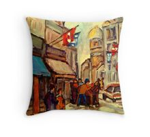 RUE ST. PAUL OLD MONTREAL Throw Pillow