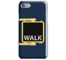 New York Crosswalk Sign Walk iPhone Case/Skin