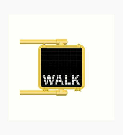New York Crosswalk Sign Walk Art Print