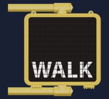 New York Crosswalk Sign Walk by ImagineThatNYC