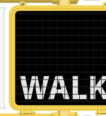 New York Crosswalk Sign Walk Sticker