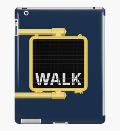 New York Crosswalk Sign Walk iPad Case/Skin
